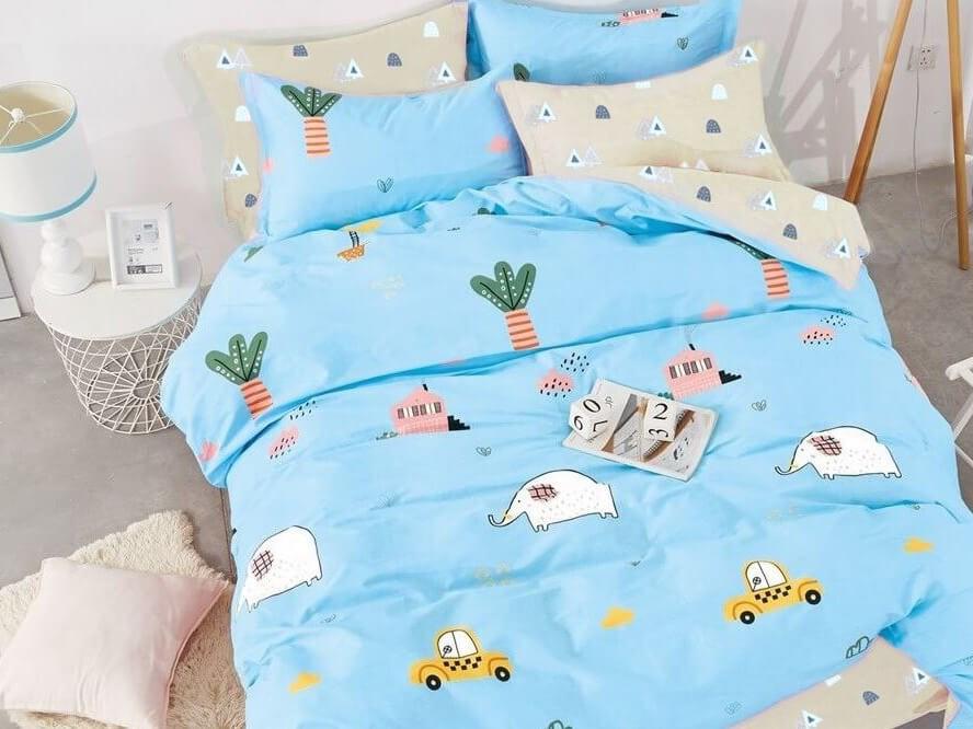 Детский комплект постельного бельяWonderful Villages (на резинке + молния) от Sweet Dreams